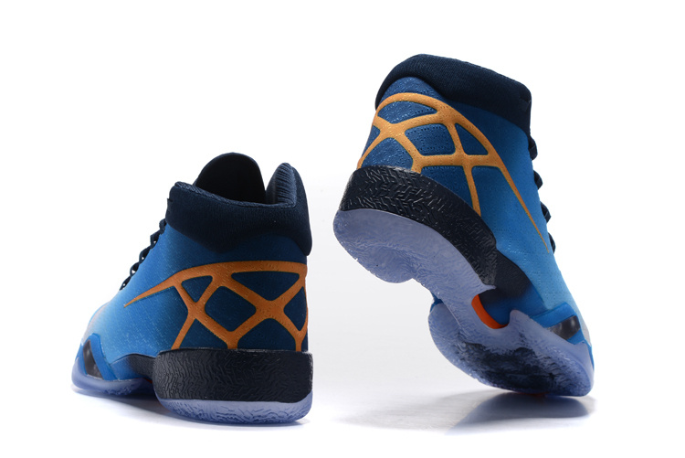 "Air Jordan 30 XXX ""Marquette"" Shoes Blue/yellow white"